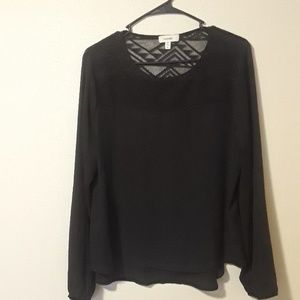All black long sleeve dress shirt